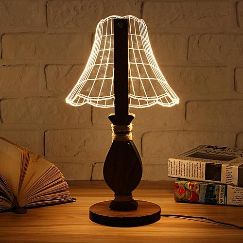 Generic Us Plug Christmas 3d Owl Led Desk Table Lamp Adjustable