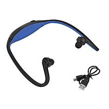 Sport Wireless Bluetooth Handfree Stereo Headset Headphone For IPhone Cellphone Blue