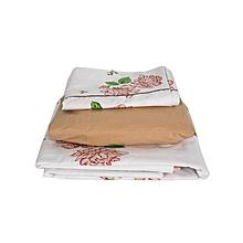 Duvet Cover Set - 4x6 - 4 Pieces - Beige & White Rose Floral