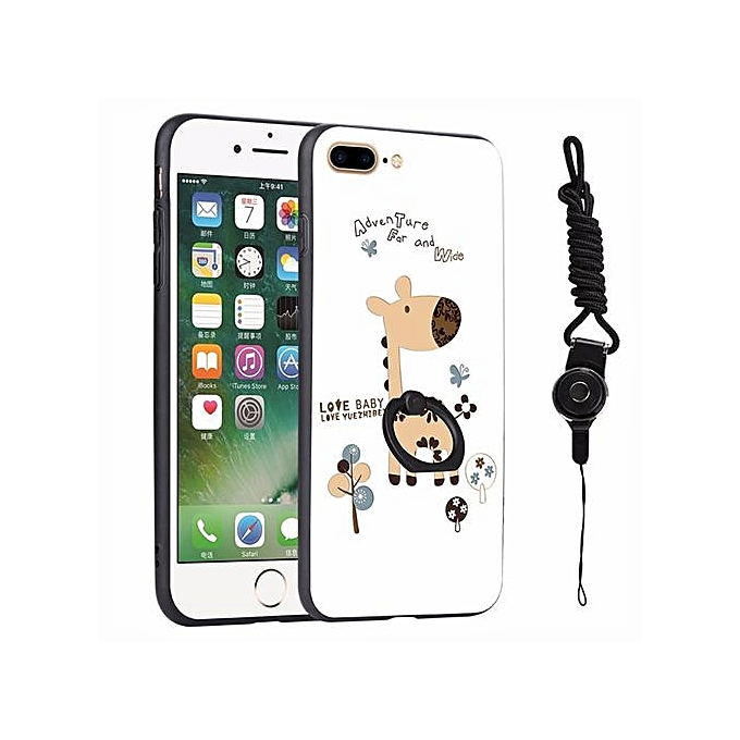 huge selection of cb62c b4959 3D relief painting style protection shell wish Fashion lanyard finger ring  phone case for Apple iPhone 8 plus 5.5 inch