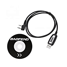 USB Programming Cable+CD Software for Baofeng Walkie Talkie UV-5R UV-5RA UV-5RE
