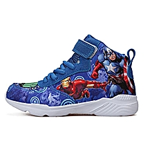 Fashionable Captain America ankle length casual sneakers