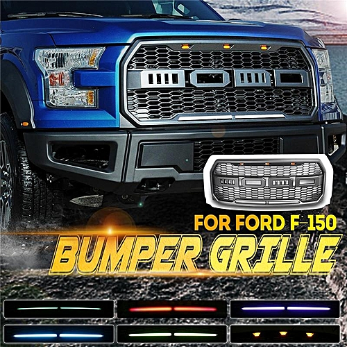 For Ford F Abs Front Bumper Grille Grill Amber Rgb Drl App Control