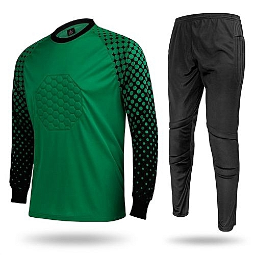57b2a27b8 Longo Men s Football Sports Goalkeeper Jersey Long Sleeves Shirts With  Pants-Green(SY12)
