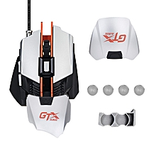 AJazz GTX 4000DPI USB Wired RGB Backlit Ergonomic Optical Gaming Mouse with Adjustable Wrist Pad
