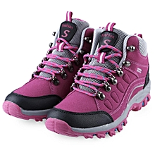 Lace Up Ladies Hiking Shoes - Plum