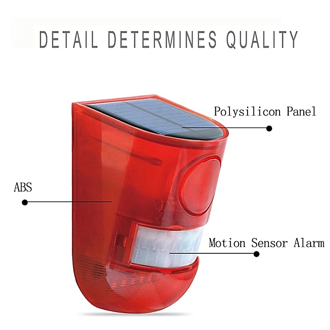 Led Solar Emergency Alarm System Solar Light Motion Sensor Outdoor Solar  Lamp Siren Security Alarm System Lights Police Garden