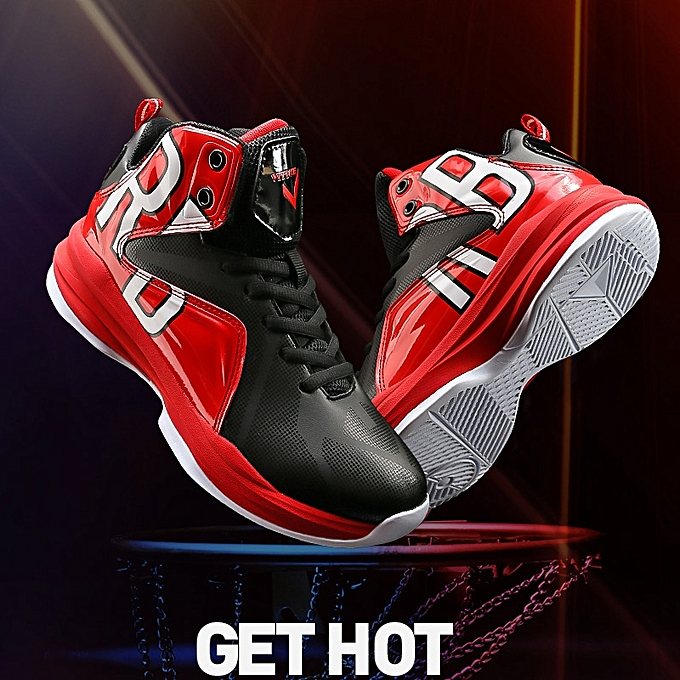 93a80ef97a9 Boy s Blackred Basketball Shoes Professional Kids Childrens Athletic  Sneakers(Little Big Kids)