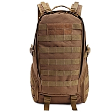 Unisex Outdoor Military Tactical Backpack Camping Hiking Rucksack(brown)