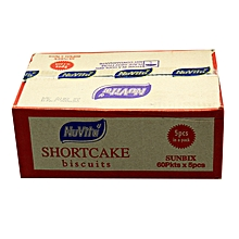 Short Cake Biscuits - 60g (Pack of 60)