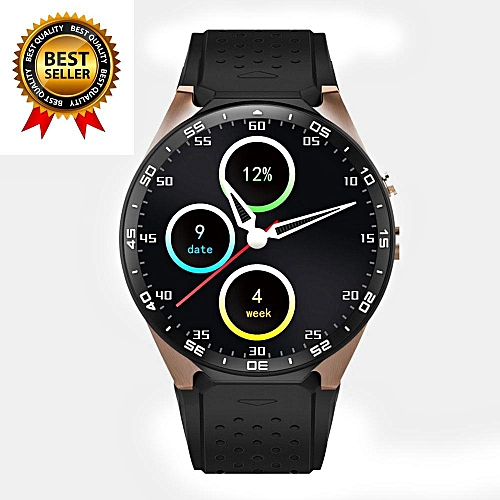 KW88 3G WIFI Smartwatch Cell Phone All-in-One Bluetooth Smart Watch Android  5 1 SIM Card with GPS,Camera,Heart Rate Monitor,Google Map, Google Play