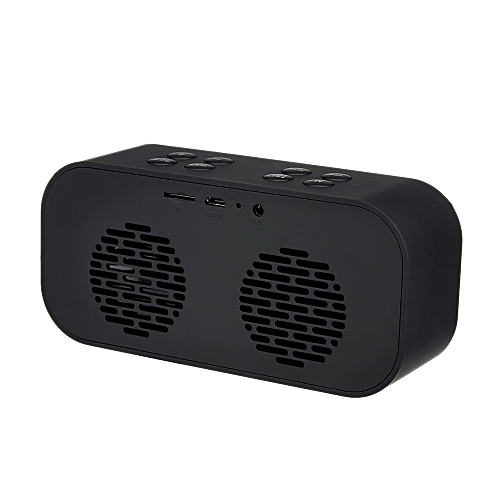 AEC Portable Bluetooth Speaker Alarm Clock Stereo Bluetooth 5 0 Deep Bass  Music Player Hands-free w/Mic LED Display TF Card AUX In Support