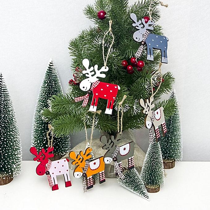 ... Creative Christmas decorations Christmas tree wood painted elk pendant