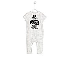 White and Grey Fashionable Overalls