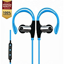 Bluetooth earphones Headphones Noice Cancellation Wireless blue