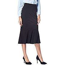 Kenancy Women's Fishtail Mermaid Stylish Slim Fit Sexy Skirt - BLACK