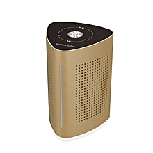 CYCLONE:Gold Promate Wireless Speaker, High-Quality 36W Bluetooth Speaker Surface Vibration Sound with Touch Control System, 3.5mm Audio Jack and Built-In Microphone for Smartphones, Tablets, Karaoke, Laptops & Pcs