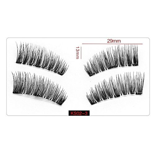 a86dad4cdcc Generic 4pcs/pairs Magnetic False Eyelashes 3D Magnet Lashes Soft Long  Magnet Eyelashes On The Magnet Natural Fake Eyelashes Extensions(KS02-3)