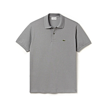 Grey Plain Classic Polo