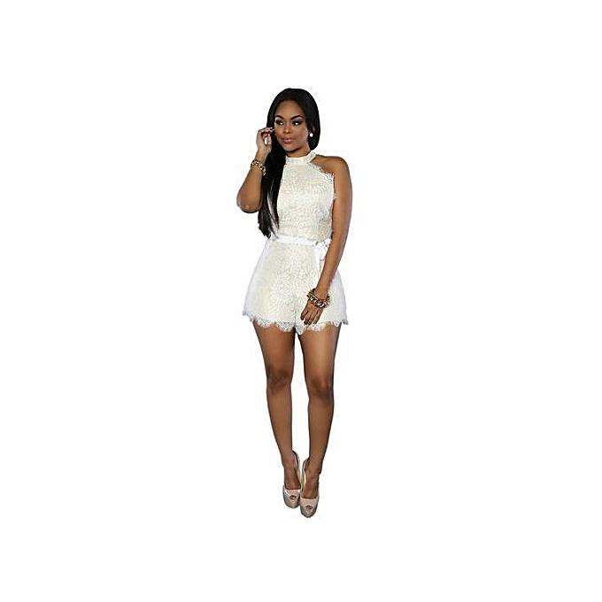 a3fc3833e7fca Elegant Women Ladies Clubwear Lace Playsuit Bodycon Party Jumpsuit&Romper  Short Trousers