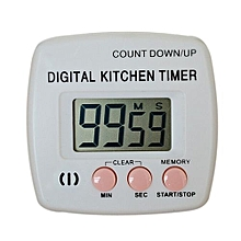 Large LCD Digital Kitchen Cooking Timer Count-Down Up Clock Loud Alarm -Pink