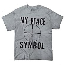 My Peace Symbol  Amendment Tactical Gear Funny Shirts Gift Men's Fashion T-shirt