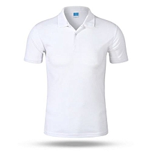 2018 Newest Customized Fashion Men And Women Available Summer Polo Shirts-White