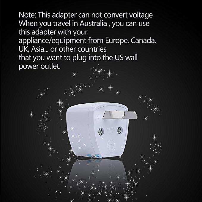 Buy Allwin Universal Travel US UK EU to AU AC POWER PLUG ADAPTER ...