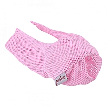 Breathable Pet Cat Mesh Muzzle Mouth Mask Face Cover Anti-biting & Licking & Meowing(Pink)