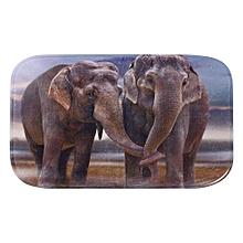 Non-slip Absorbent Memory Foam Bathroom/ Bedroom Floor/Shower Mat Rug Decor (Two Elephant)