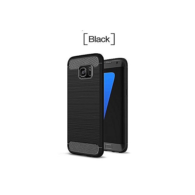 premium selection 15499 b1cae Phone Cases For Samsung Galaxy S7 Case Carbon Fiber Rubber Cover For  Samsung S7 Case Anti Knock Business TPU Capa Coque (Black)