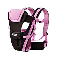 Multifunctional Ventilate Adjustable Buckle Mesh Wrap Baby Carrier Backpack(PINK)