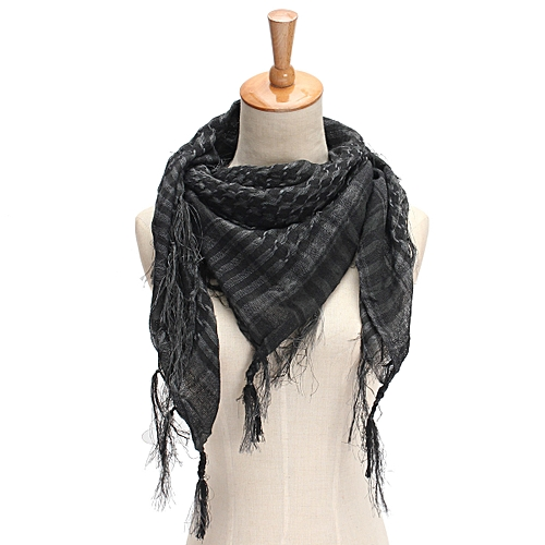 Generic Lightweight Military Women Men Unisex Arab Shemagh Keffiyeh Scarf  Shawl Wrap Grey HOT b27abe53a
