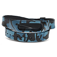 2 Layered Replacement Watchband   For XIAOMI Miband 2 Silica Wristband blue camouflage