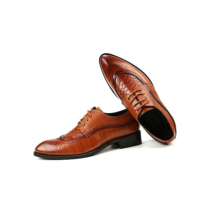 6e76add5472 Men s Classic Lace Up Leather Formal Shoes Men Genuine Leather Casual Shoes