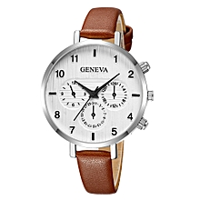 Beautiful Fashion Simple Watch Ladies Leather Belt Watch For Gift