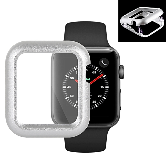 half off 98c55 6dd62 Magnetic Metal Frame Protective Case for Apple Watch Series 3 & 2  38mm(Silver)