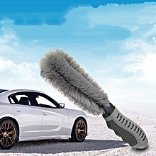 AfricanmallDN store  Car wheel special cleaning brush single head wheel antifreeze handle wash tools-Gray