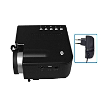 UC28B+ Home LED Projector Mini Portable 1080P HD Projection For Theater Black