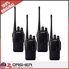 BaoFeng BF-888S 3KM Walkie Talkie 16 Channel Radio UHF 5W(1 Set 4 Pcs)
