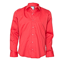 Red Shirt With A Red Pocket Square