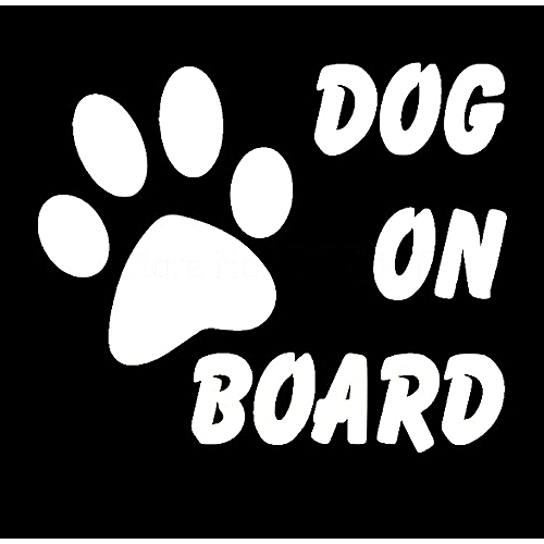 Warning Signs Car Stickers Baby On Board Dog Stylish Cute Car Stickers  Black Silver