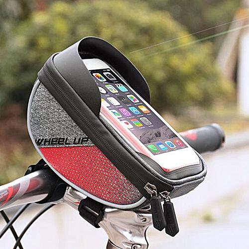 b737d5a43b9 Generic Wheelup Waterproof Frame Handlebar Bag Pouch 6   Phone Case Holder  Bike Bicycle Red   Best Price