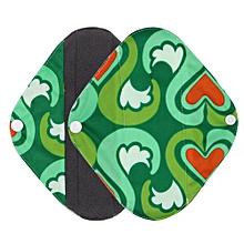 Reusable Bamboo Cloth Washable Menstrual Pad Mama Sanitary Towel Pad Green S