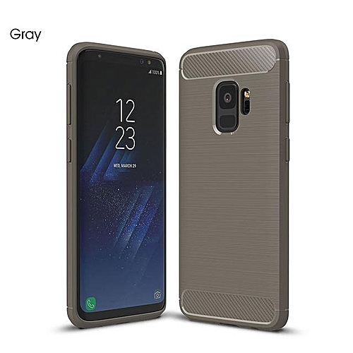 best service 524fe eb4b3 For Samsung Galaxy S9 Case Luxury Military Grade Protection Brushed Soft  Silicone Rubber Cover For S9 Phone Case