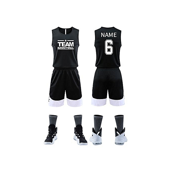 a71032aa4 Customized Blank Brand Men s Casual Basketball Team Sports Jersey-Black