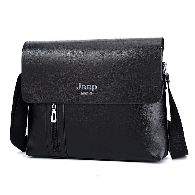 ce6235ba3c 2018 Jeep Sulppai Men Messenger Bags Casual Zipper Soft Leather Solid Flap  Briefcase Crossbody Shoulder Bags