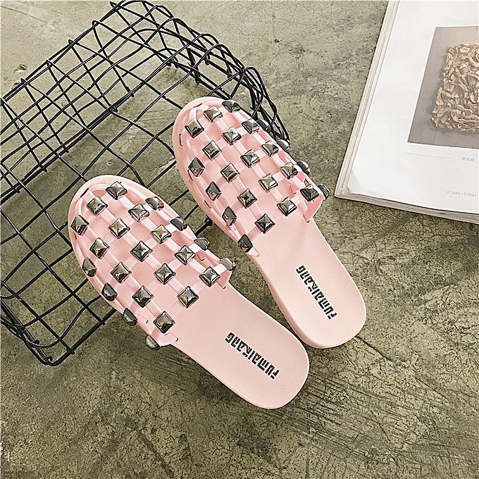35feb79e Generic Women Fashion Metallic crystal home Flip-flop Sandals Woman Flip  Plus Size 36-