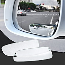2pcs Car Mirror 360 Degree Wide Angle Convex Blind Spot Mirror - White