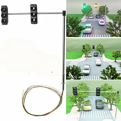 Dual HO / OO Traffic Light Turn Signal LED Model Train Architecture Street  5V